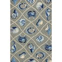 Kas Harbor 2' X 3' Grey Seaside Area Rug - Item Number: HAR42192X3