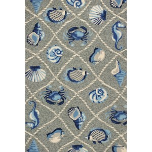 "Kas Harbor 3'3"" X 5'3"" Grey Seaside Area Rug"
