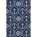 "Kas Harbor 3'3"" X 5'3"" Navy Marina Area Rug - Item Number: HAR422033X53"