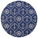 "Kas Harbor 7'6"" X 7'6"" Navy Marina Area Rug - Item Number: HAR422076X76RO"