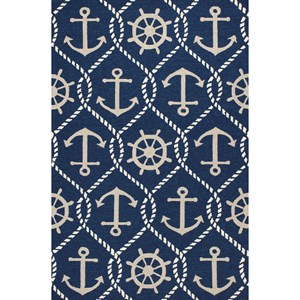 "Kas Harbor 7'6"" X 9'6"" Navy Marina Area Rug"
