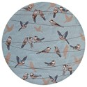 "Kas Harbor 7'6"" X 7'6"" Blue Birds On A Wire Area Rug - Item Number: HAR422276X76RO"