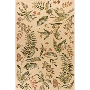 "Kas Havana 2'6"" X 4'2"" Cream Vista Area Rug"