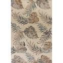 Kas Havana 5' X 8' Ivory Palms Area Rug - Item Number: HAV26385X8