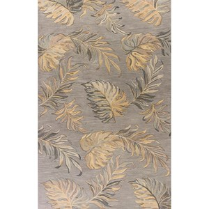 "Kas Havana 2'3"" X 8' Grey Palms Area Rug"