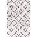 "Kas Impressions 3'4"" X 4'11"" Ivory/Blue Courtyard Area Rug - Item Number: IMR46128X106"