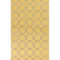 "Kas Impressions 3'4"" X 4'11"" Gold/Grey  Courtyard Area Rug - Item Number: IMR46135X76"