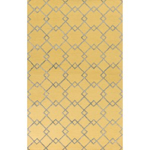 "Kas Impressions 5'3"" X 7'7"" Gold/Grey  Courtyard Area Rug"