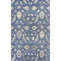 "Kas Jaipur 2'3"" X 8' Azure Blue Artisan Area Rug - Item Number: JAI387023X8RU"