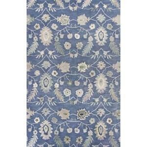 "Kas Jaipur 3'3"" X 5'3"" Azure Blue Artisan Area Rug"
