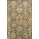 "Kas Jaipur 2'3"" X 8' Gold Mandala Area Rug - Item Number: JAI387423X8RU"