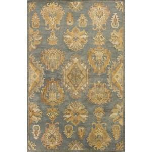 """Kas Jaipur 8' X 10'6"""" Gold Mandala Area Rug"""