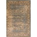 """Kas Jasmine 3'3"""" X 5'3"""" Blue/Ivory Vintage Area Rug - Item Number: JAS375533X53"""
