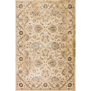 "Kas Jasmine 2'3"" X 7'11"" Ivory Traditions Area Rug"