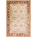 "Kas Jasmine 5'3"" X 7'7"" Ivory/Red Traditions Area Rug - Item Number: JAS375953X77"