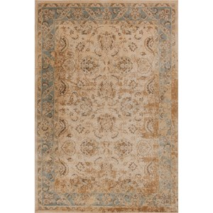 "Kas Jasmine 3'3"" X 5'3"" Ivory/Blue Traditions Area Rug"