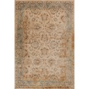"Kas Jasmine 3'3"" X 5'3"" Ivory/Blue Traditions Area Rug - Item Number: JAS376033X53"