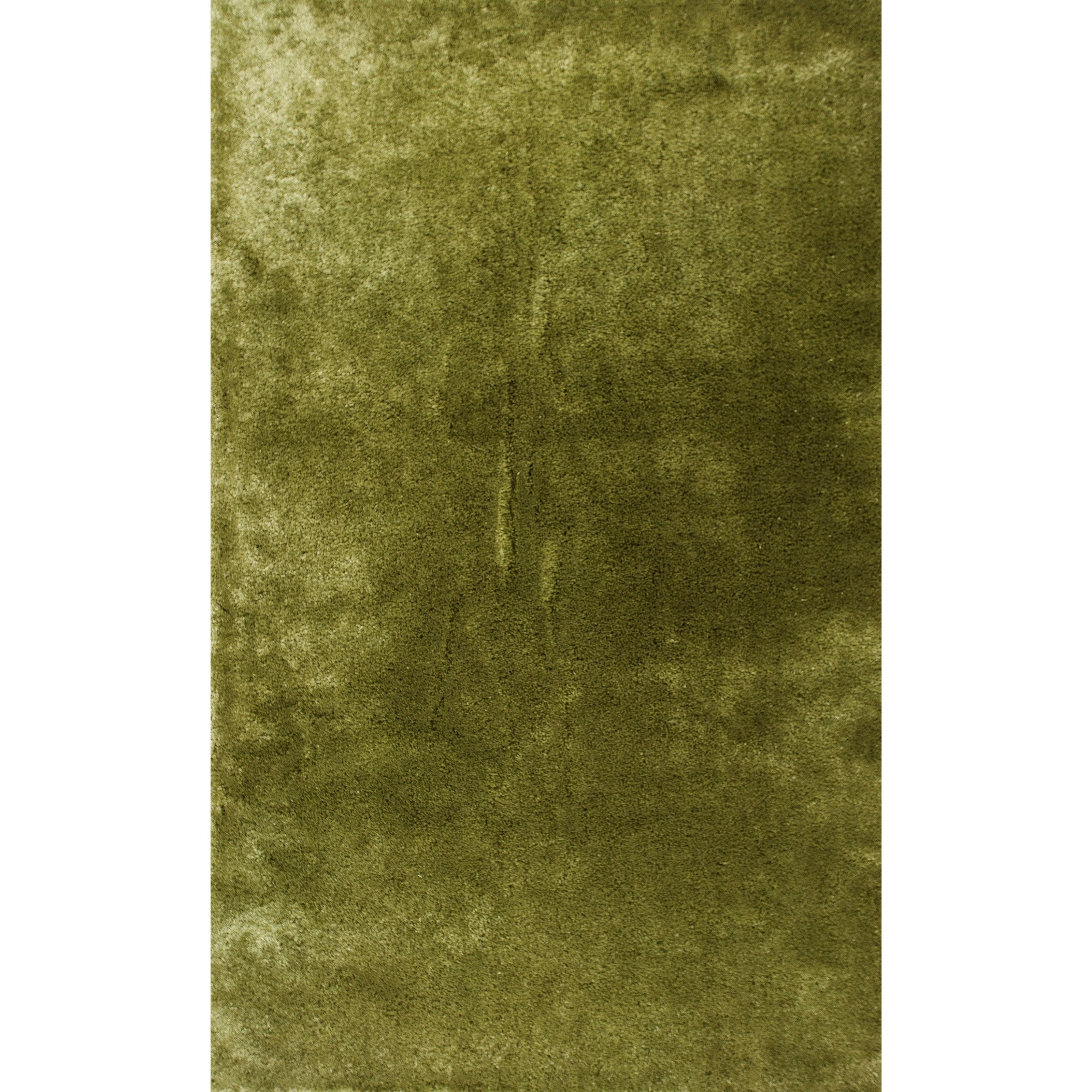 5' X 7' Leaf Green Area Rug