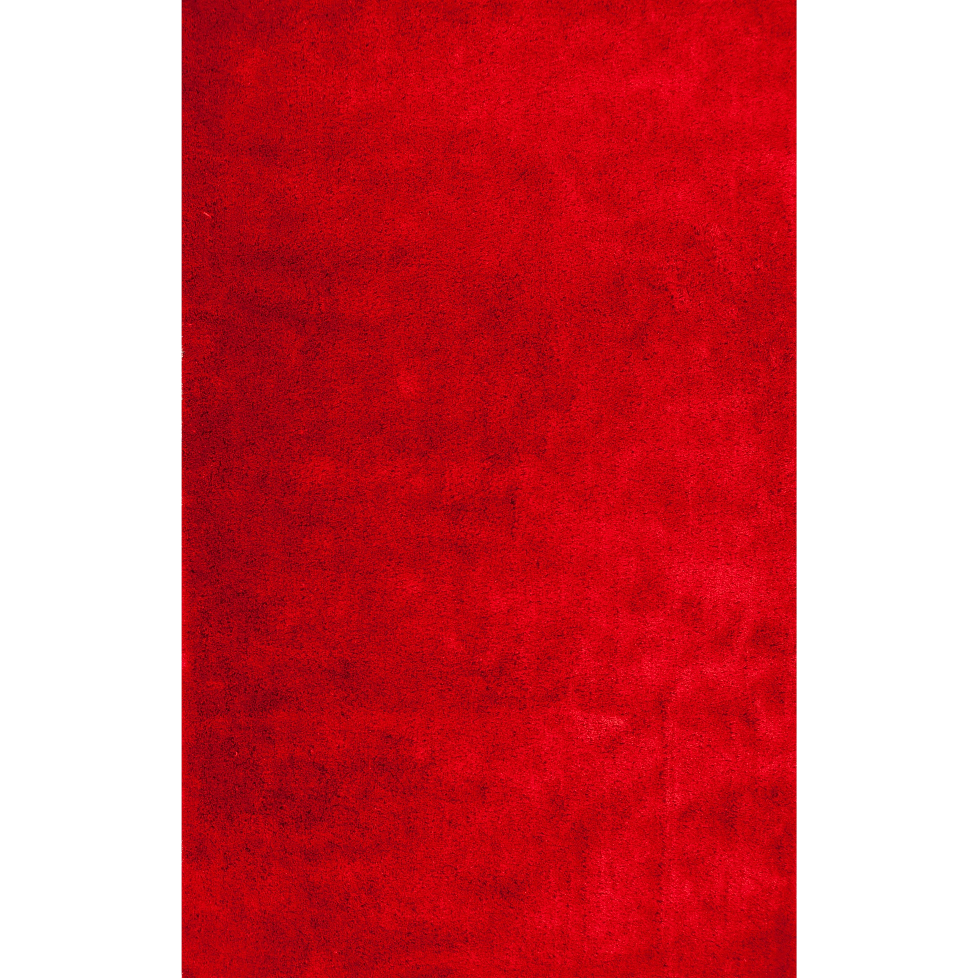 "7'6"" X 9'6"" Tomato Red Area Rug"
