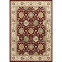 "Kas Kingston 3'3"" X 4'11"" Ruby/Ivory Rania Area Rug - Item Number: KIN640533X411"
