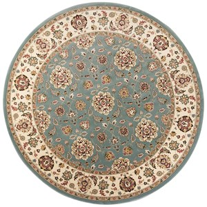 "Kas Kingston 7'7"" X 7'7"" Blue/Ivory Mahal Area Rug"