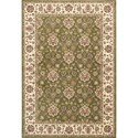 "Kas Kingston 5'3"" X 7'7"" Green/Ivory Mahal Area Rug - Item Number: KIN640953X77"