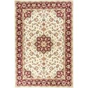 "Kas Kingston 2'2"" X 7'11"" Ivory/Red Tabriz Area Rug - Item Number: KIN641222X711RU"