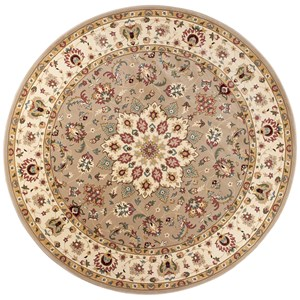 "Kas Kingston 7'7"" X 7'7"" Beige/Ivory Tabriz Area Rug"