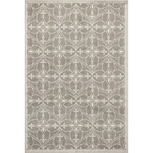 "Kas Lucia 6'7"" X 9'6"" Grey Bentley Area Rug"