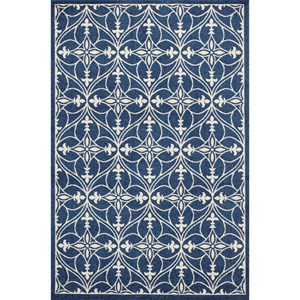 "Kas Lucia 6'7"" X 9'6"" Denim Bentley Area Rug"