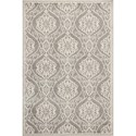 "Kas Lucia 3'3"" X 4'11"" Silver Mosaic Area Rug - Item Number: LUC275933X411"