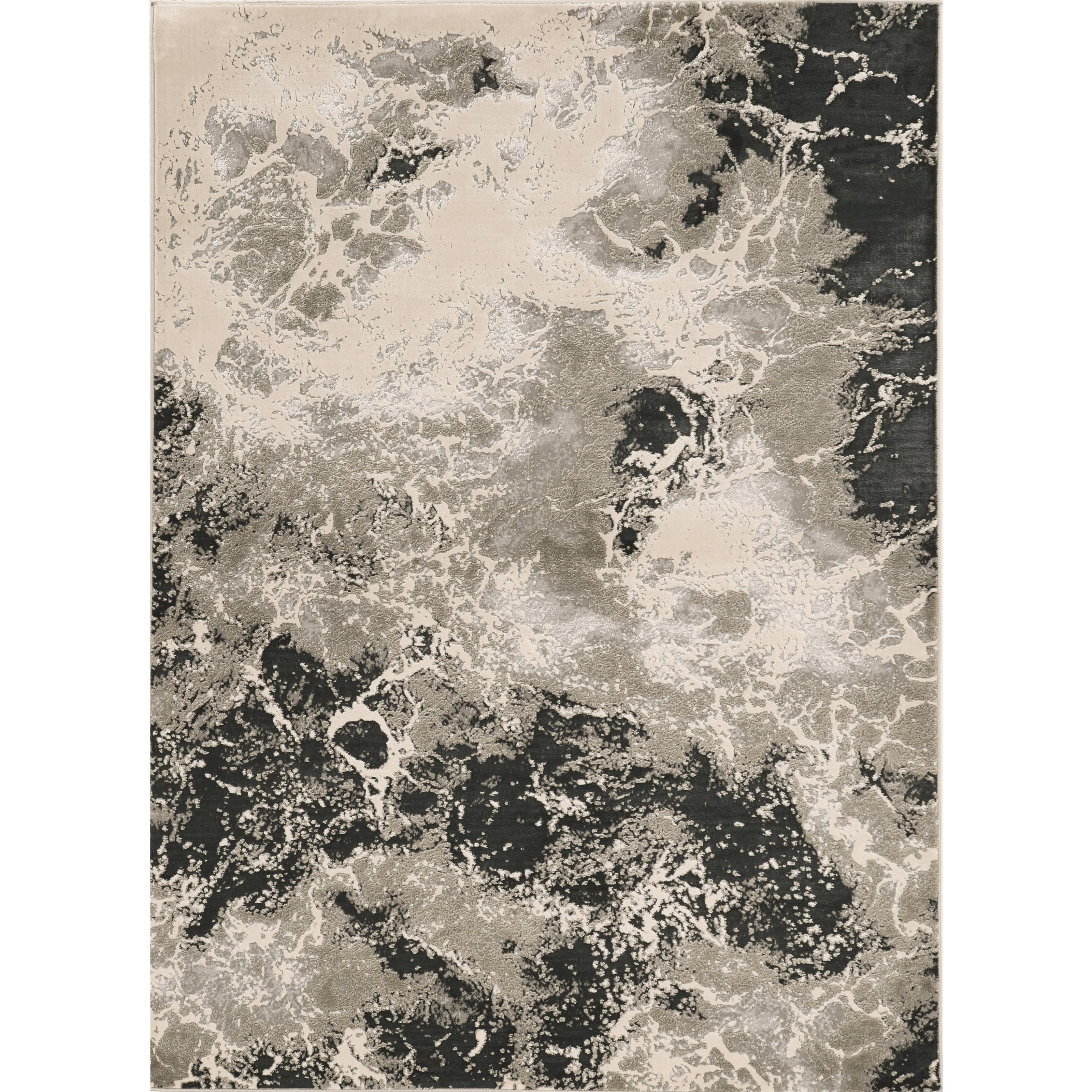 "Luna 5'3"" x 7'7"" Silver Nightscape Rug by Kas at Darvin Furniture"