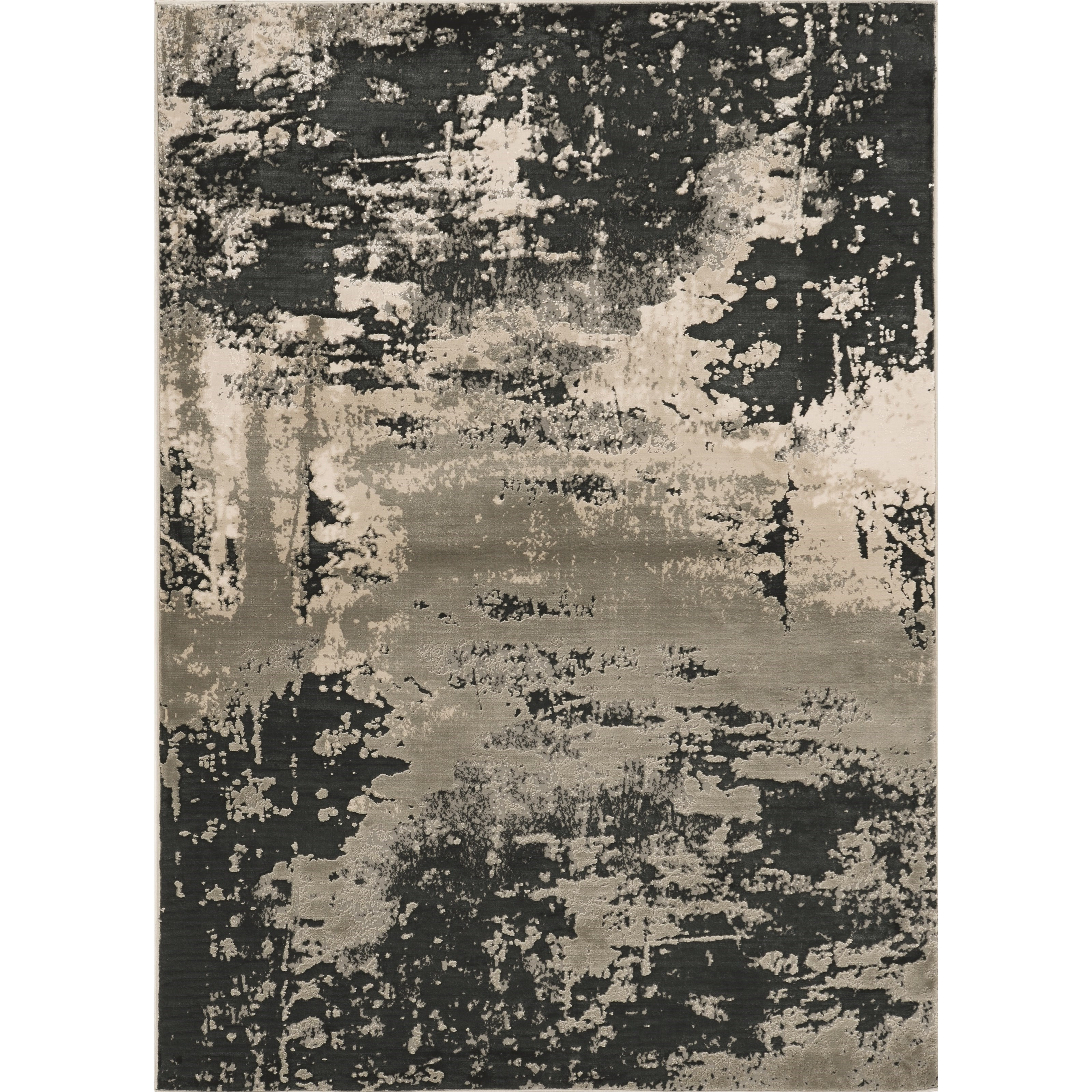 """3'3"""" x 4'11"""" Silver Charcoal Eclipse Rug"""