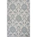 Kas Marbella 5' X 7' Ivory/Grey Damask Area Rug - Item Number: MAR35005X7