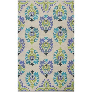8' X 10' Sand/Blue Courtney Area Rug