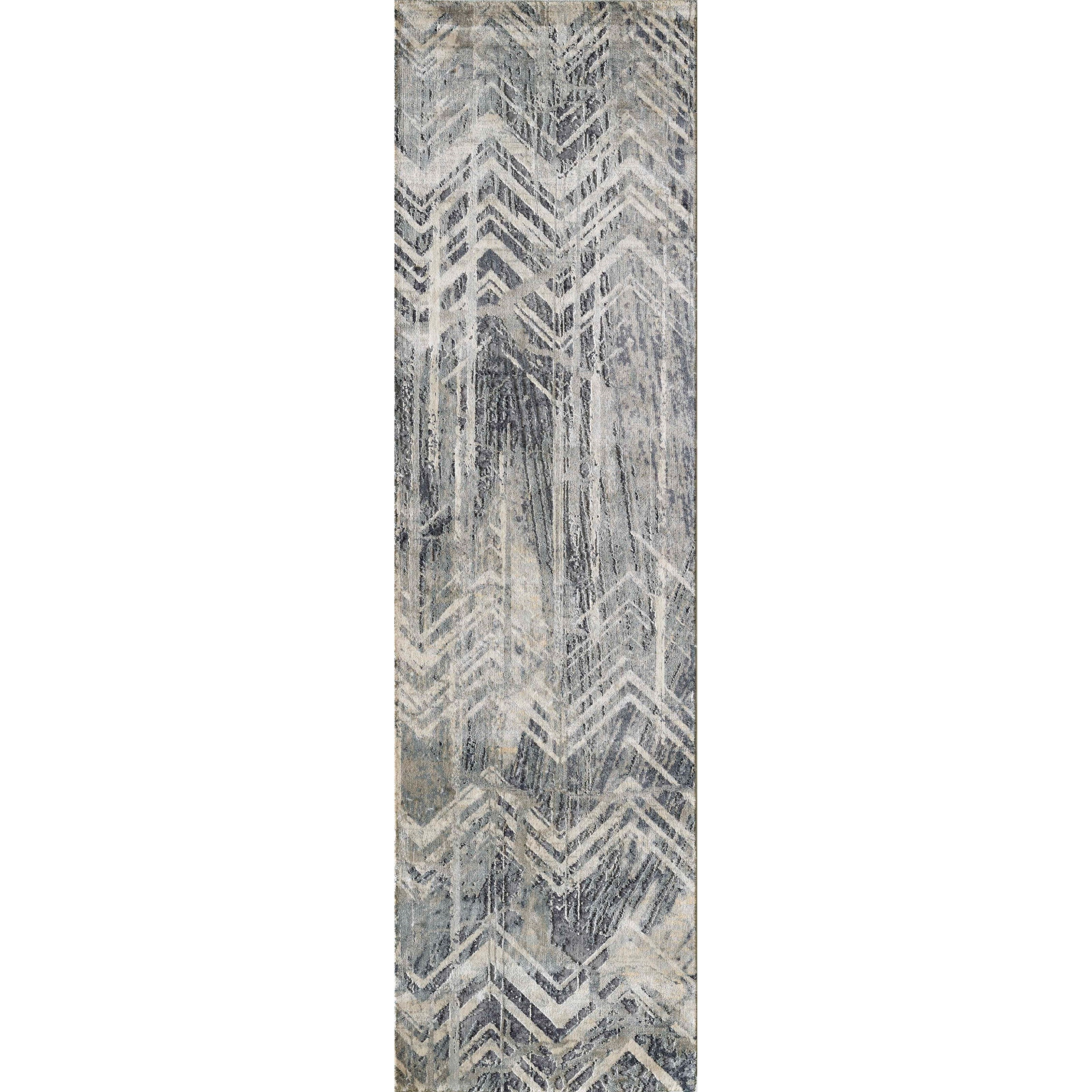 Picture of: Kas Montreal 2 2 X 7 6 Runner Grey Chevron Rug Darvin Furniture Rugs