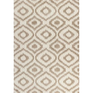 "Kas Oasis 3'3"" X 5'3"" Ivory/Beige Concentro Area Rug"