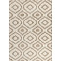 "Kas Oasis 5'3"" X 7'7"" Ivory/Beige Concentro Area Rug - Item Number: OAS165153X77"