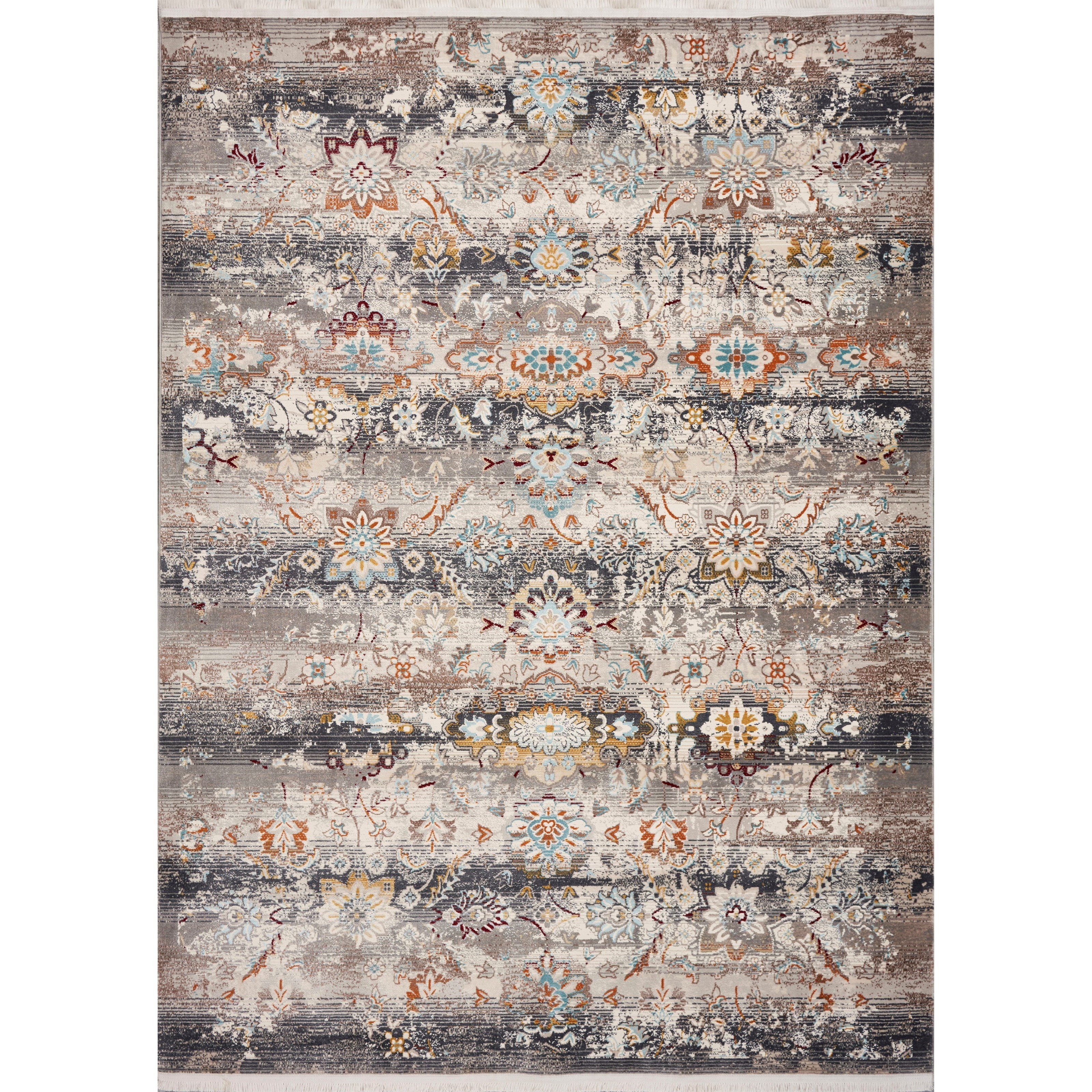 "5'3"" x 7'10"" Grey Tunisia Rug"