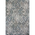 """Kas Provence 5'3"""" X 7'7"""" Silver / Blue Palazzo Area Rug - Item Number: PRO860253X77"""