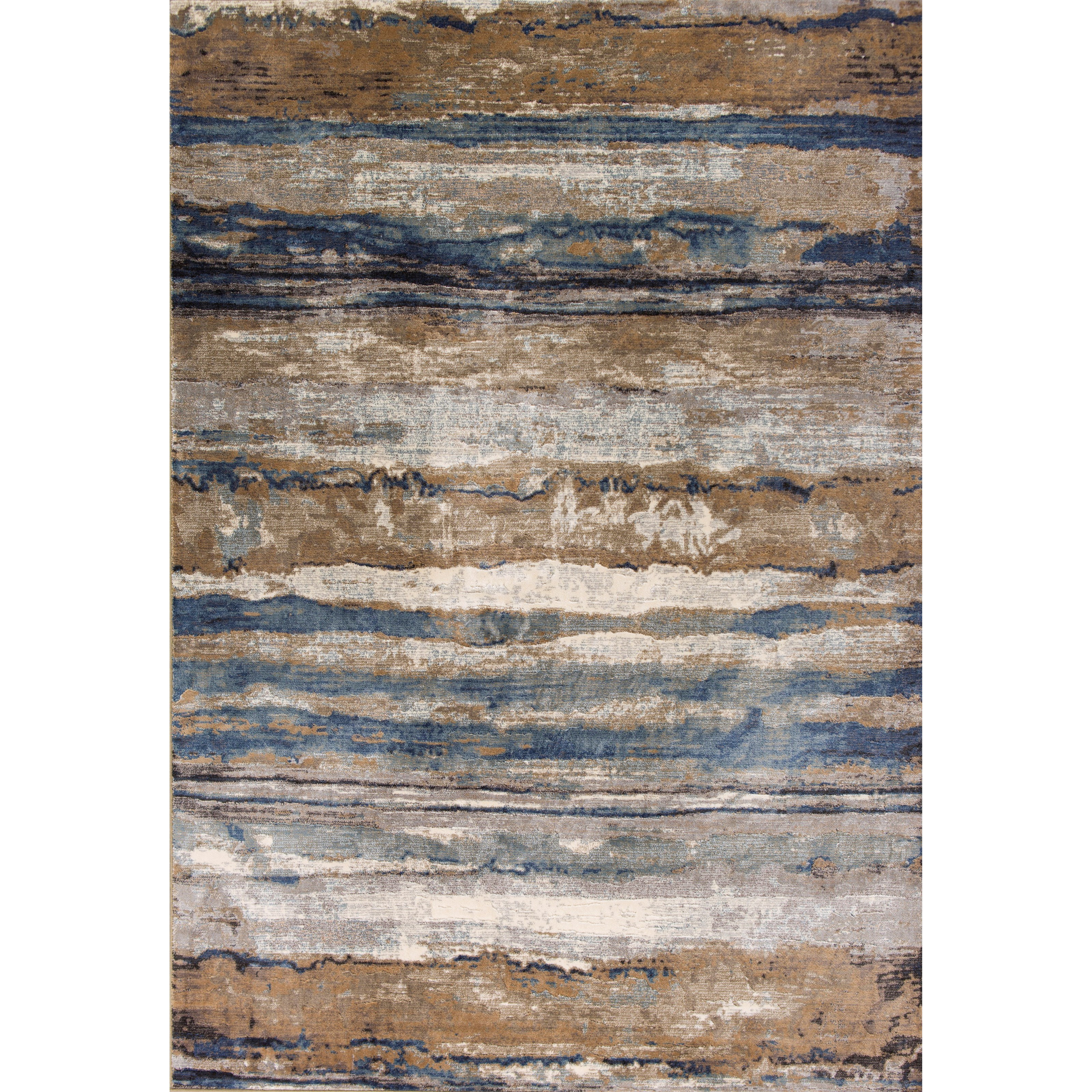 "3'3"" X 4'7"" Ivory/Blue Landscape Area Rug"