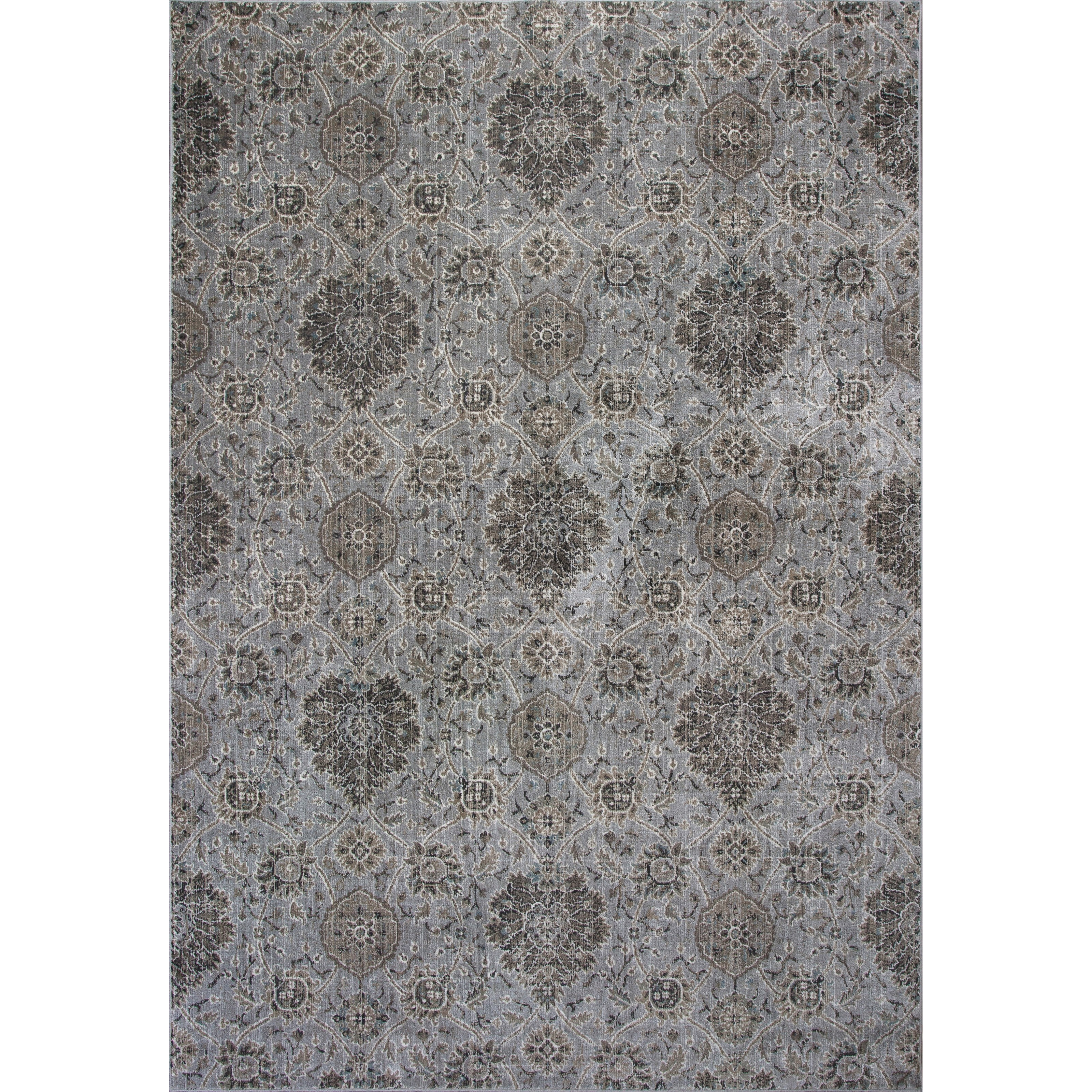 """2'2"""" X 6'11"""" Silver Allover Kashan Area Rug"""