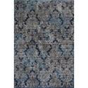 """Kas Provence 2'2"""" X 3'7"""" Slate Blue Damask Area Rug - Item Number: PRO861122X37"""