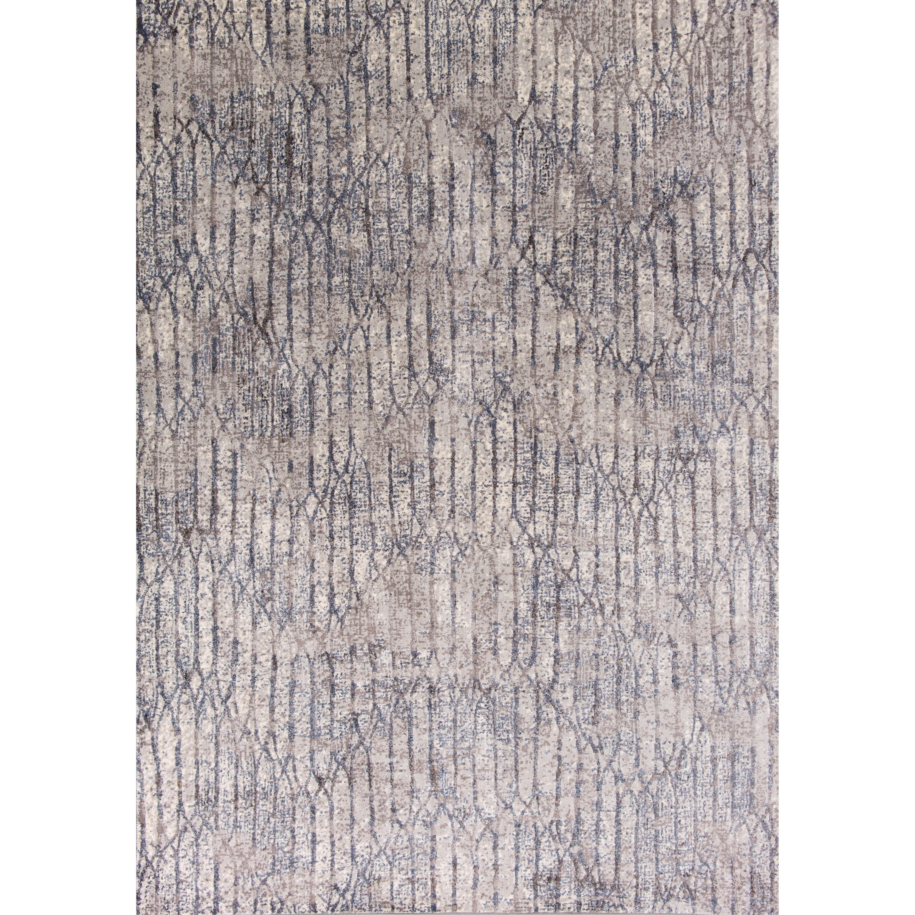 "7'10"" X 11'2"" Grey Blue Illusions Area Rug"