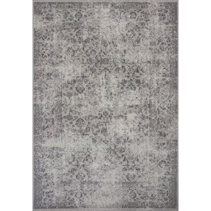 "Kas Reflections 6'7"" X 9'6"" Grey Vintage Area Rug"