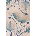 """Kas Reflections 6'7"""" X 9'6"""" Ivory Serenity Area Rug - Item Number: REF742867X96"""