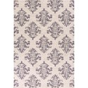 "Kas Reflections 6'7"" X 9'6"" Grey Damask Area Rug - Item Number: REF743167X96"