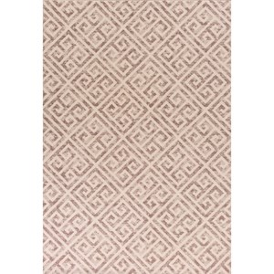 "Kas Reflections 2'7"" X 4'11"" Taupe Greek Key Area Rug"