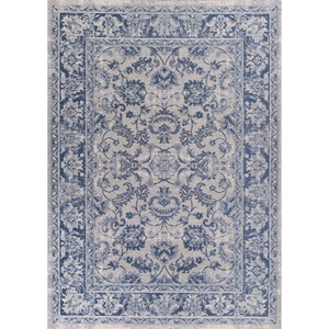 "Kas Retreat 1'8"" X 2'7"" Slate Blue Kashan Area Rug"