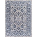"Kas Retreat 6'7"" X 9'6"" Slate Blue Kashan Area Rug - Item Number: RET010767X96"